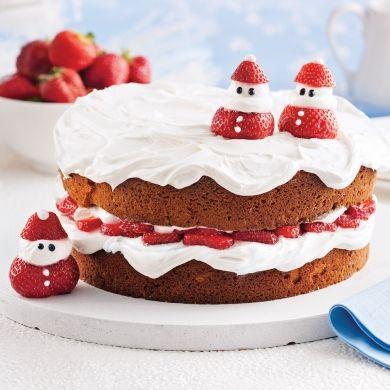 Shortcake de Noël aux fraises - Recettes - Cuisine et nutrition - Pratico Pratique