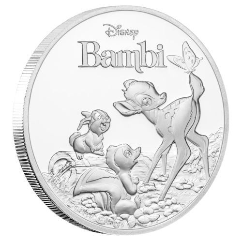 Buy Now: http://goccf.com/pm/bambi-75th-anniversary-1oz-silver-proof-coin  Perth Mint New Release: Bambi 75th Anniversary 2017 1oz Silver Proof Coin Recent Release - Coin Community Forum