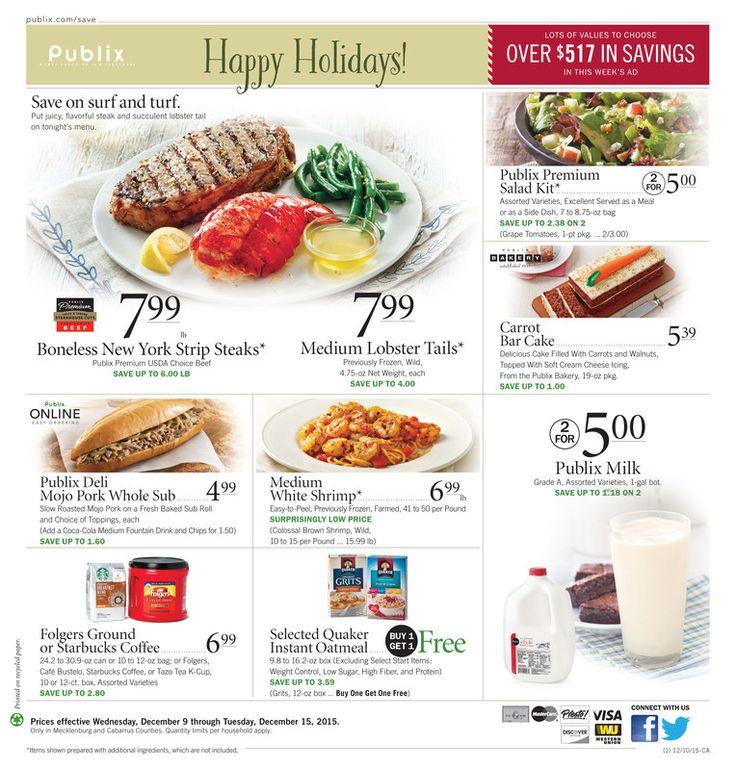 Publix Ad Dec 9 - 15, 2015 - http://www.kaitalog.com/publix-weekly-ad.html