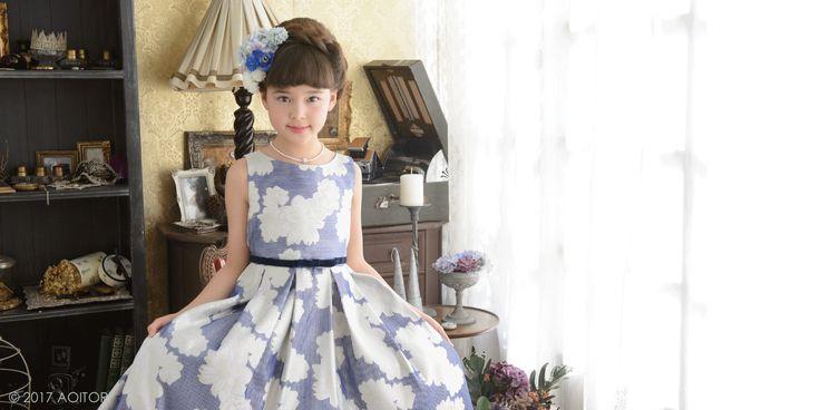 子供ドレス ピアノ発表会ドレスの【青い鳥】