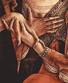 Pala di San Francesco a Fabriano, dettaglio della Pietà