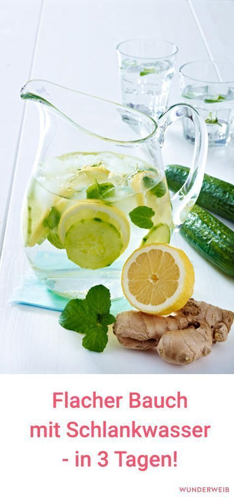 Mit diesem Schlankwasser wird dein Bauch innerhalb von drei Tagen schön flach! #flacherbauch #abnehmen #detoxwasser