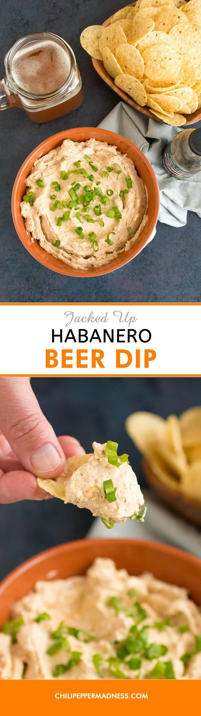 "Jacked Up Habanero Beer Dip - This spicy beer dip recipe is ""jacked up"" with habanero hot sauce, perfect for any party, an anytime snack, and ridiculously easy to bring with you to your favorite venue."
