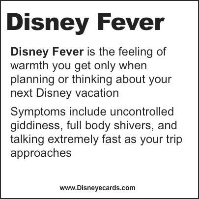 I think I have one of those never-ending cases... I guess I'm sick... Homesick! I miss Disney!