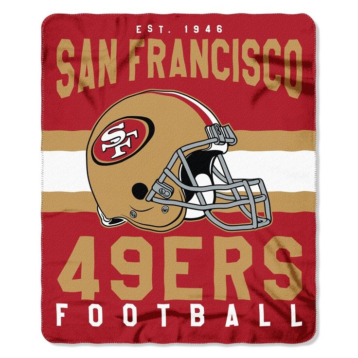 "NFL San Francisco 49ers Northwest 50""x60"" Throw Blanket"