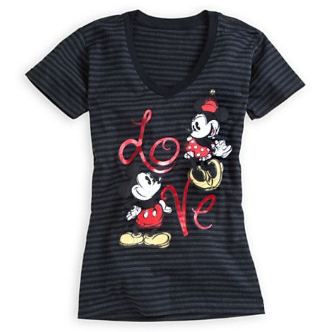Mickey and Minnie Mouse Tee for Women | Tees, Tops & Shirts | Disney Store