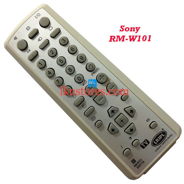Buy remote suitable for Sony Tv Model: RM W101 at lowest price at LKNstores.com. Online's Prestigious buyers store.