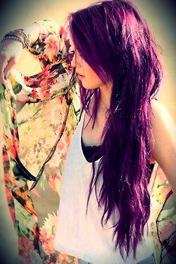 long purple hair c: