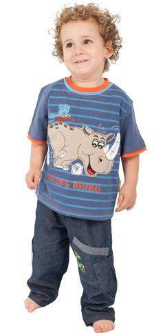 It's a Rhino and he's racing!!  #fairtrade #childrensclothing #southafrica