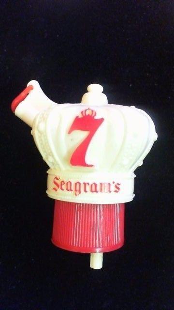 VINTAGE SEAGRAMS 7 WHISKEY BOTTLE TOPPER R8T3 #SEAGRAMS