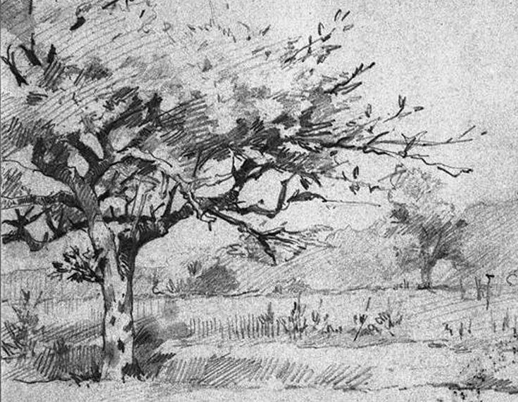 Abbema Louise,1896 - Chemin de Vemors - drawing - Détail -