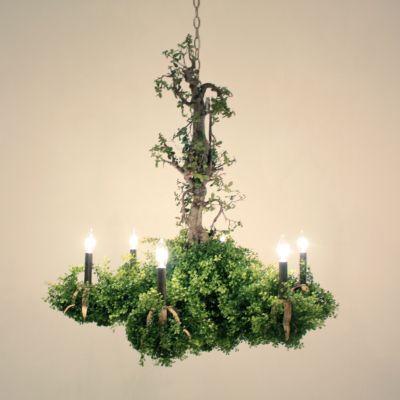 H.P.DECO : 森のシャンデリア グリーンが本物らしいですね、写実調森のシャンデリア