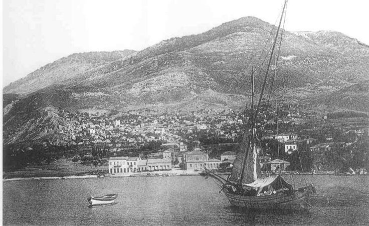 1930 port of Kyparissia, Messene in the Peloponnese of Greece.