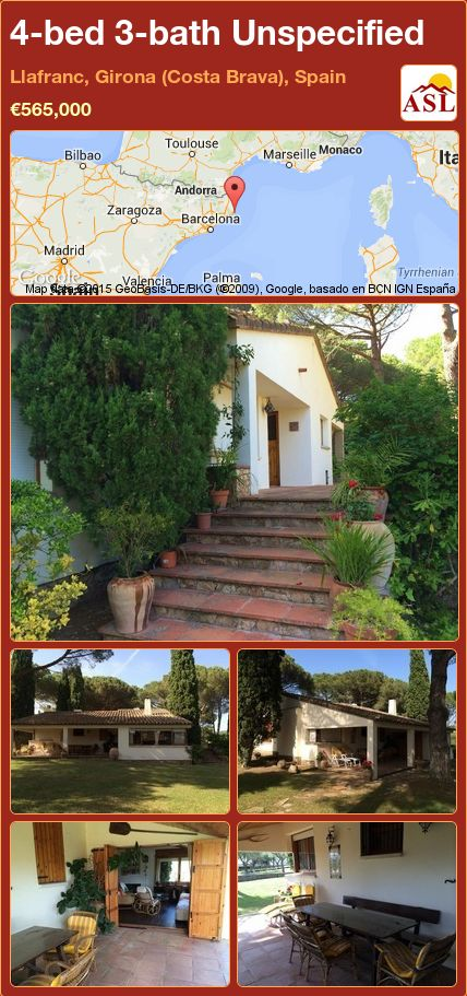 4-bed 3-bath Unspecified in Llafranc, Girona (Costa Brava), Spain ►€565,000 #PropertyForSaleInSpain