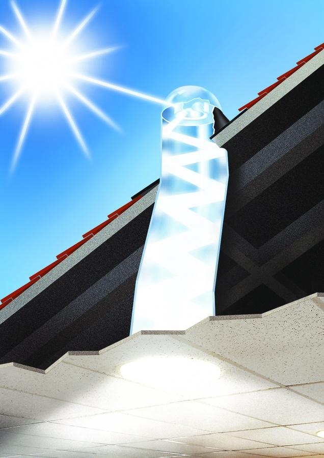 Solarspot, il sistema ecocompatibile ed ecosostenibile che contribuisce a ridurre l'impiego di energia elettrica per illuminazione diurna, nonchè l'inquinamento atmosferico e le emissioni di CO2