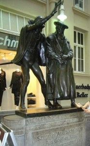 Faust Skulptur vor Auerbachs Keller in der Mädler-Passage, Leipzig
