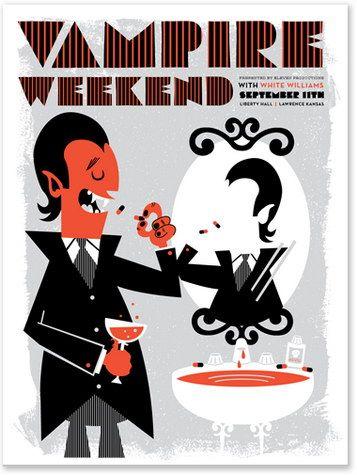 Vampire WeekendTad Carpenter, Vampire Weekend, Art, Graphics Design, Music Posters, Weekend Posters, Vampireweekend, Vahalla Studios, Vampires Weekend