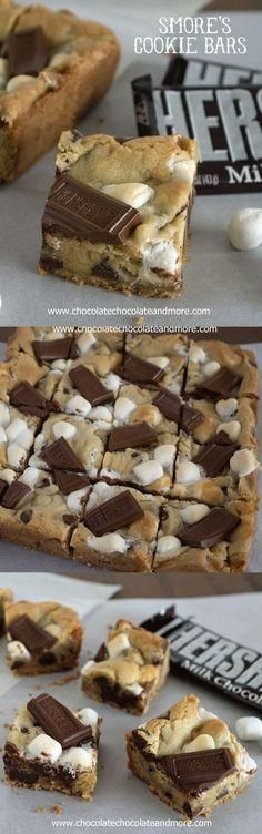 Smores Cookie Bars Dessert Recipes - dessert, food, recipes