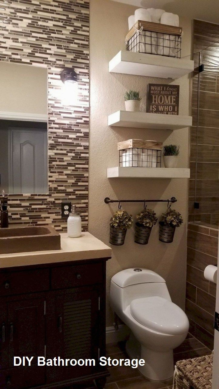 New Diy Bathroom Storage Ideas In 2020 Small Bathroom Decor Small Bathroom Remodel Farmhouse Bathroom Decor