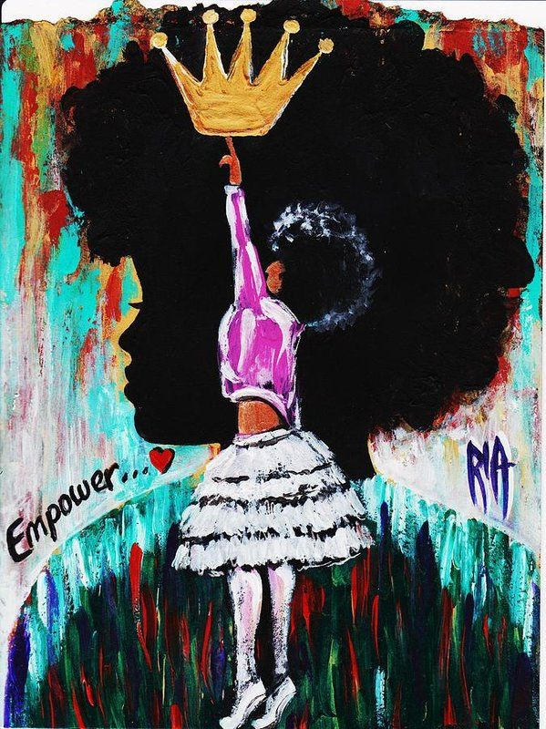 Empower Art Print By Artist Ria All Prints Are Professionally Printed Packaged And Shipped Within 3 4 Business Days Cho Black Love Art Art Black Girl Art