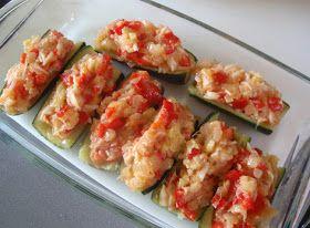 calabacines rellenos de bacalao   Zucchini   Pinterest   Html