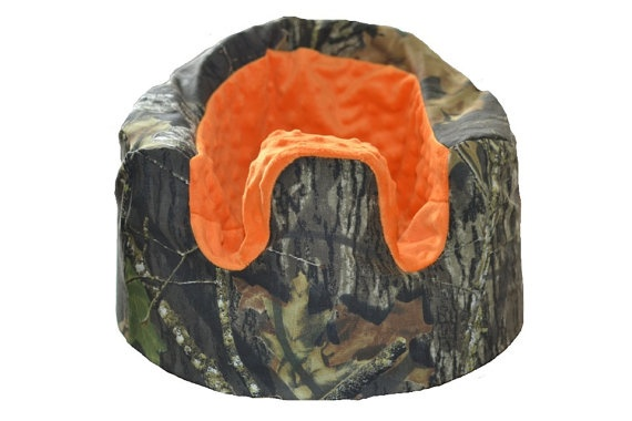 Mossy Oak Camo and Orange Bumbo Seat Cover by LittleAngelsEmporium, $25.99