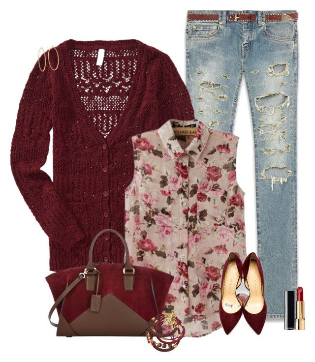 Fall transitions by nancymcd on Polyvore featuring polyvore, fashion, style, Aéropostale, Yves Saint Laurent, Charlotte Olympia, Narciso Rodriguez, Sara Designs, Juicy Couture, Linea Pelle, Chanel and clothing