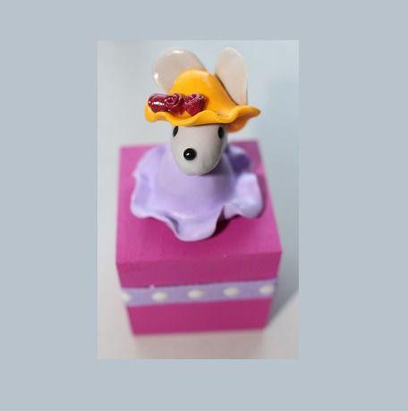 Boîte pour dents de lait, petite souris rose : Chambre d'enfant, de bébé par ludifimo