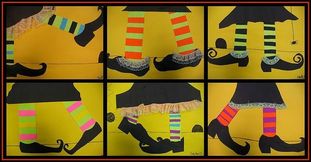 Great for patterning in math and a neat idea for a Halloween craft - Lisa! We can do it for patterning!! Brilliant!