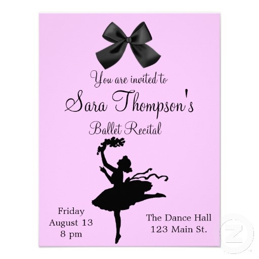 66 Best Dance Recital Invitations Images On Pinterest