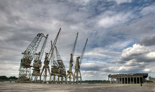 Cranes in Antwerp - you all know these if you have been here!