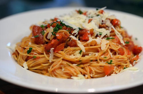 Wine and dine at Pasta Pomodoro - just down the street from Hyatt House Pleasant Hill.