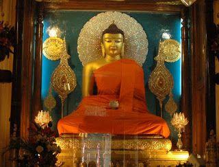 The Buddha and the Mahabodhi Temple Bodhgaya, Bihar, 2500 years old India   ~ Navrang India