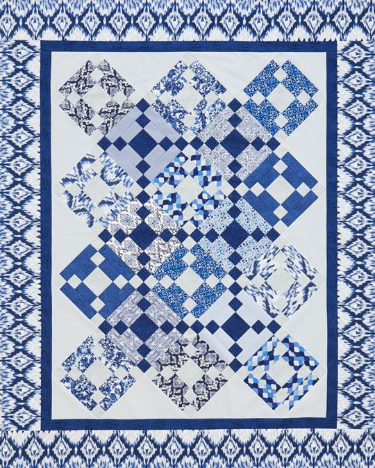 89 Best BLUE AND WHITE QUILTS Images On Pinterest