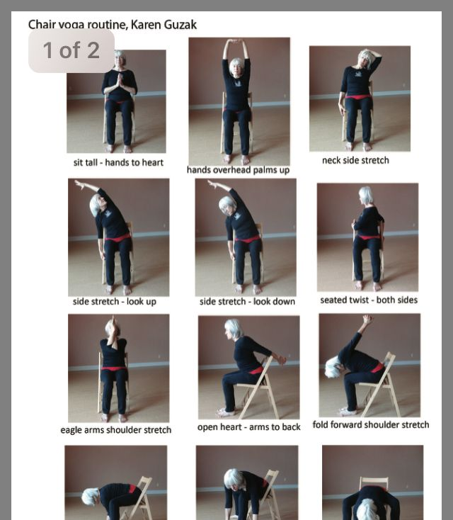 Pin By Tracey Maclagan On Yoga Chair In 2020 Chair Yoga Chair Pose Yoga Chair Yoga Sequence
