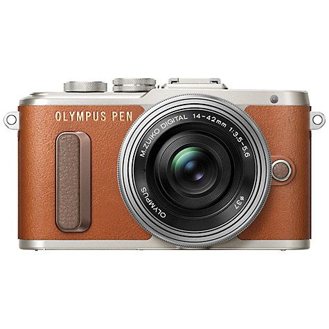 """FOR THE ASPIRING INSTAGRAMMER: Olympus PEN E-PL8 Compact System Camera with 14-42mm EZ Lens, HD 1080p, 16.1MP, 3"""" LCD Touch Screen,"""