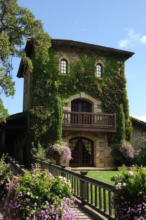 lavender-colored glasses...: Dreams Home, Vines, Cottage, Balconies, Napa Valley, French Country, Architecture, Places, Stones House