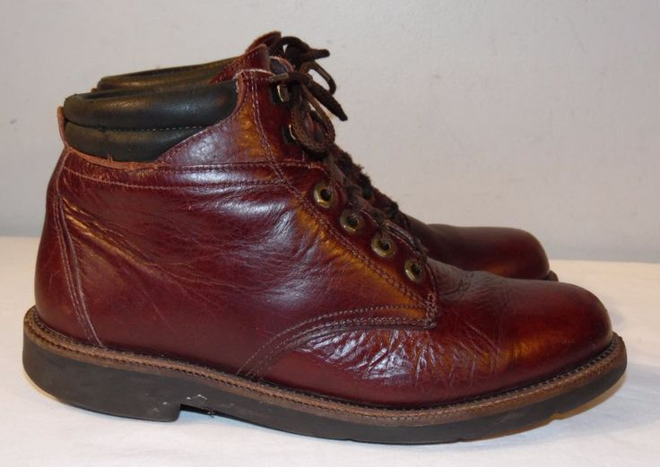 HS TRASK Brown Leather Ankle Boots Men's 9.5 M Made in the USA ORVIS #HSTrask #AnkleBoots
