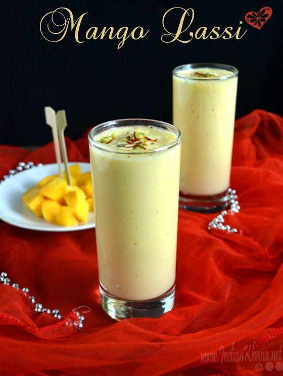 Mango Lassi | Summer Drinks Recipes  Yogurt and Mango makes these creamy and delicious Mango Lassi (mango smoothie), simple pleasures of life.