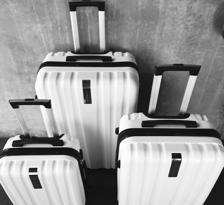 White Knight Luggage Set by Jett Black #luggagestore #airportstyle