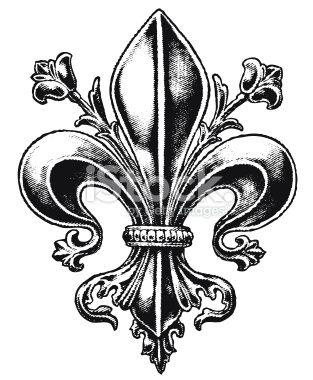 Fancy Fleur de Lis Royalty Free Stock Vector Art Illustration