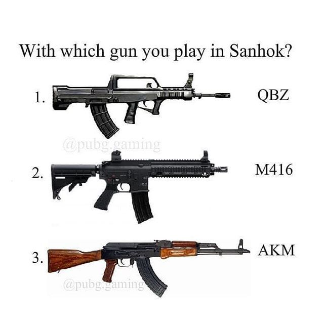 With which gun you play in Sanhok? #PUBG