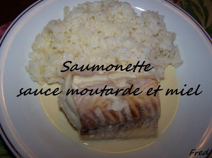 Saumonette sauce moutarde et miel
