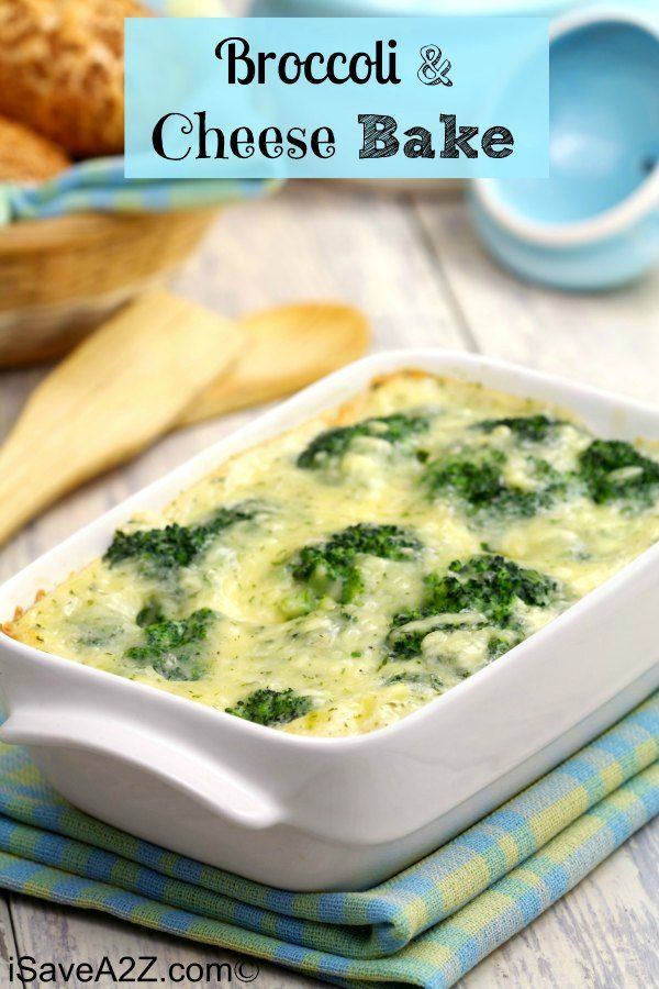 Broccoli and Cheese Bake! A yummy and cheesy way to have you veggies!