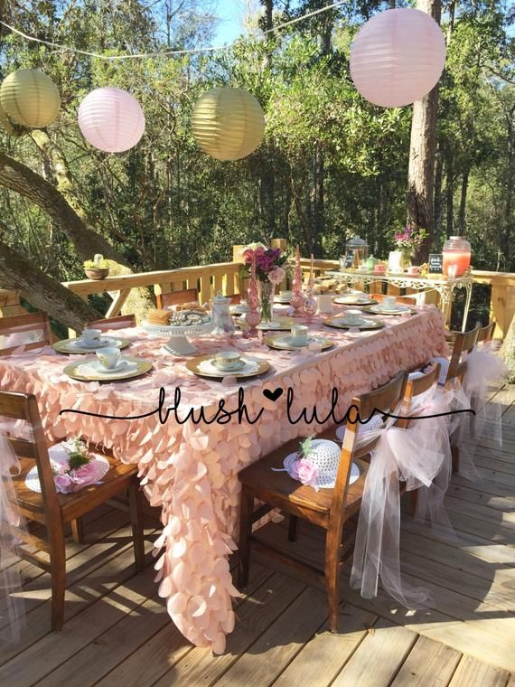 Dreamy Blush Pink Petal Tablecloth Gorgeous For Any Event Table