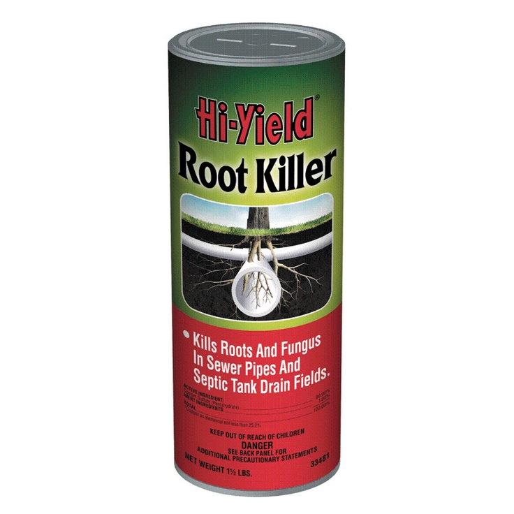 Use Hi Yield Root Killer To Kill And Dissolve Roots From