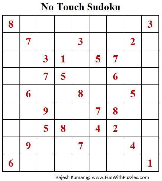 No Touch Sudoku (Daily Sudoku League #159)