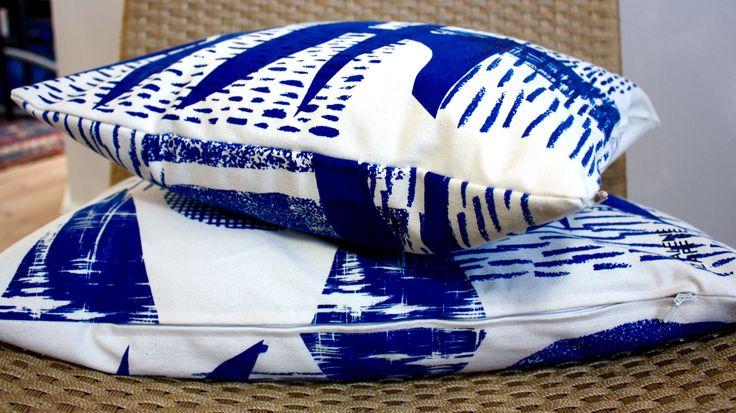 Blue Cushion by Malene Zapffe. www.malenezapffe.com