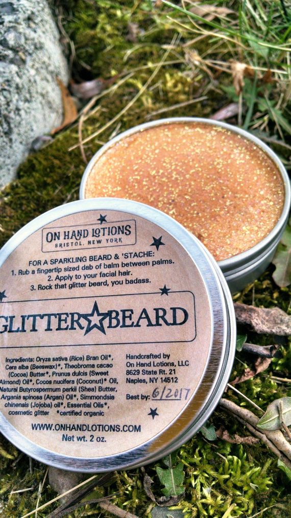 Glitter Beard Balm, organic beard oil, mustache wax, beard care, grooming, mens stocking stuffer, gag gift, glitter beard
