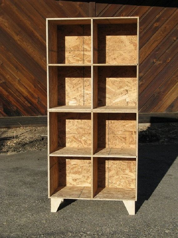 Modular Osb Bookshelf Cubby Storage Two Tall Unfinished Via Etsy Woodworking Cabinetry